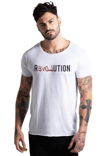 Camiseta Basica Joss Revolution Branca