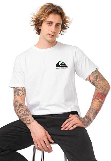 Camiseta Quiksilver Omni Logo Branca
