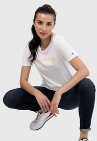 Camiseta Blanco-Amarillo Tommy Hilfiger