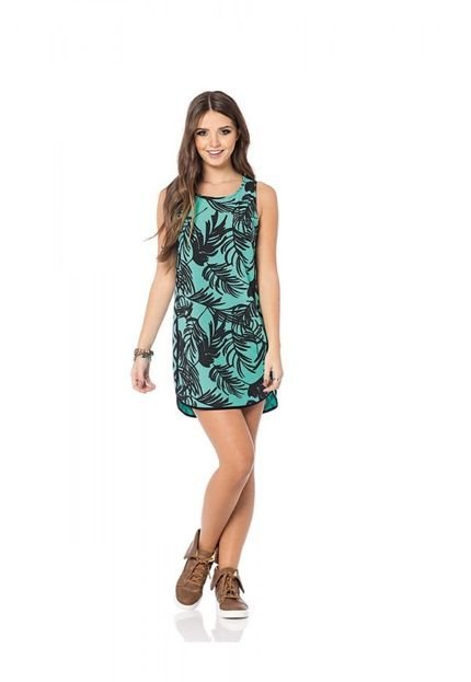Sly Wear Vestido Sly Wear Estampado Verde 6zZ3o
