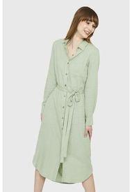 Vestido Camisero Largo Verde Nicopoly