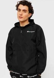 Cortaviento Champion M Packable Jacket Negro - Calce Regular
