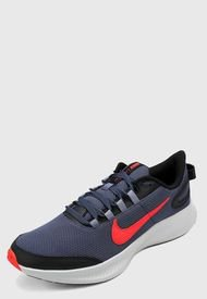 Tenis Running Azul-Coral-Blanco Nike Runallday 2