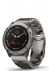 Smartwatch Fenix 6X Pro Solar Titanio Correa De Titanio Garmin