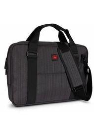 Bolso Para Laptop Swissbrand Gleather Briefcase Dark Grey