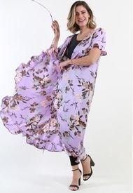 Vestido Abierto Cruzado Floral Lila Night Concept