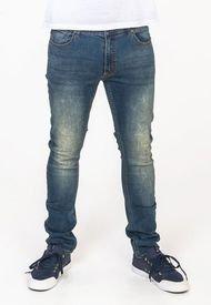 Jeans Slim Tapered Color Denim Azul Medio Polemic