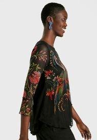 Blusa Desigual Negro - Calce Regular