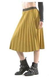 Falda Italiana Plizada Amarillo Bous