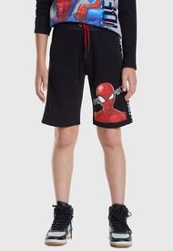 Short Desigual Niño Waterpolo Spiderman Negro - Calce Regular
