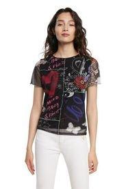 Camiseta Negro-Multicolor Desigual