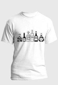 Camiseta Estampada Hombre Negro-Blanco Kuva - Botellas