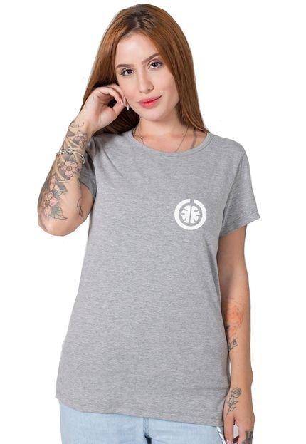 Stoned Camiseta  Stoned Basic Cinza 40qz2