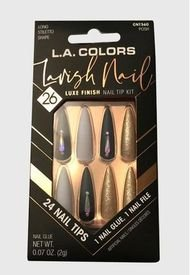 "Kit De Uñas Press On Con Diseño ""Lavish Nail Posh"" L.A Colors"
