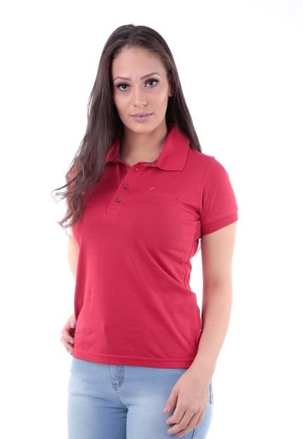 Traymon Camisa Polo CP0722 Regular Traymon Vermelha XuAvT