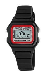 Reloj Crono Deportivo Negro Calypso