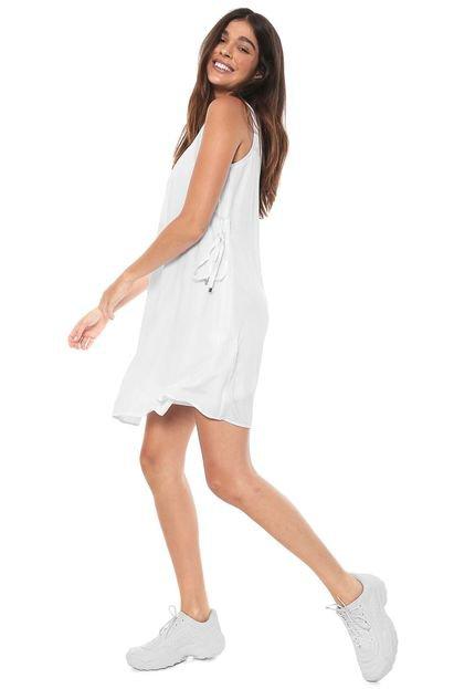 Hering Vestido Hering Curto Liso Branco