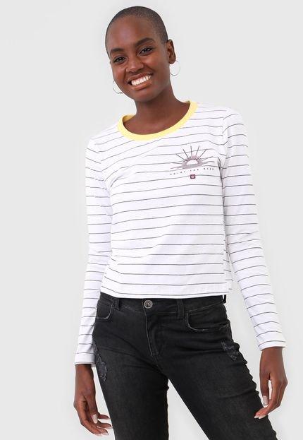 Hang Loose Blusa Hang Loose Sun Standart Stripe Branca EJXip