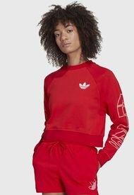 Polerón adidas originals SWEATSHIRT Rojo - Calce Holgado