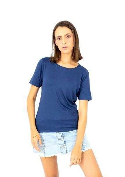 Three Basic Camiseta Three Basic Manga curta Azul rvr6N