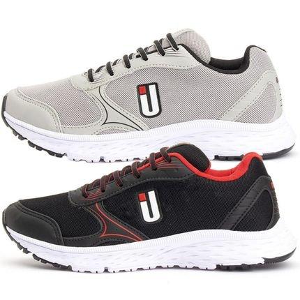 OUSY SHOES Kit Tênis Ousy Shoes Revolute Training Cinza / Preto eb6Vw