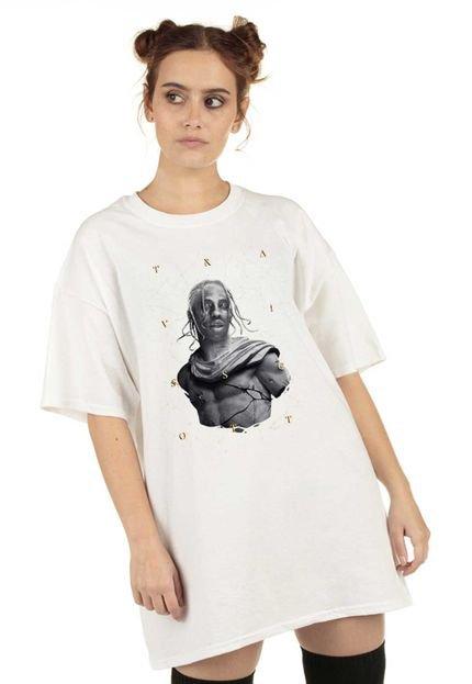 Skull Clothing Blusa Skull Clothing Travis Statue Mode Branca vlLSi