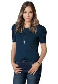 Camiseta Para Mujer Azul Petroleo Oscuro Rutta