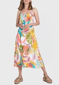 Vestido iO Midi fantasia Rosa - Calce Regular