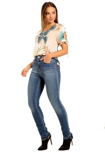 Loja 18 Calça Skinny  Jeans  Detalhe Desfiado na Barra  Perfeita! 3rXgX