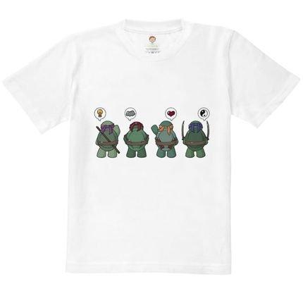 Nerderia Camiseta Kids Nerderia Tartarugas Ninjas Branco AafJF