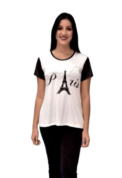 Energia Camiseta Energia Fashion Com Estampa Branco 5DUuq