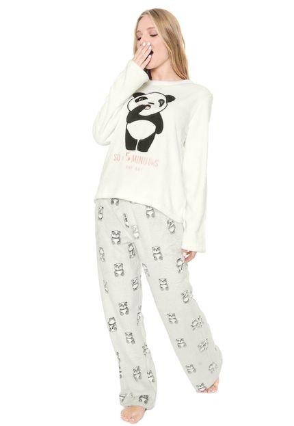 Menor preço em Pijama Any Any Panda Branco/Cinza