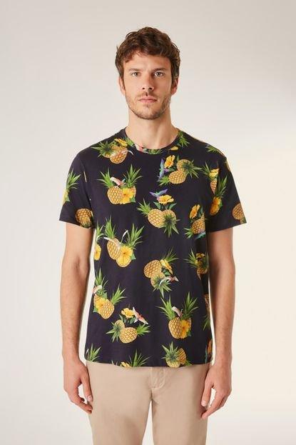 Camiseta Full Print Pf Tropical Reserva Preto