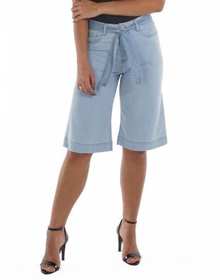 Bermuda Jeans Leve Com Faixa Jeans Azul Loony - Marca Loony