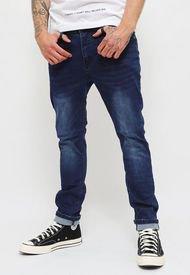 Jeans Ellus Skinny Tiro Medio Azul - Calce Skinny