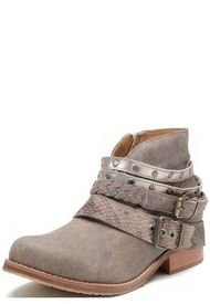 Botín Cuero Maura Taupe Amano Shoes