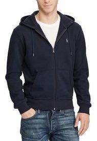 Poleron Hombre Double-Knit Full-Zip Azul Polo