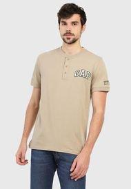 Camiseta Beige-Blanco-Verde GAP