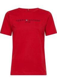 Camiseta Essential De Cuello Redondo Con Logo Rojo Tommy Hilfiger
