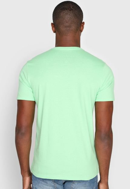 Camiseta Polo Wear Logo Verde