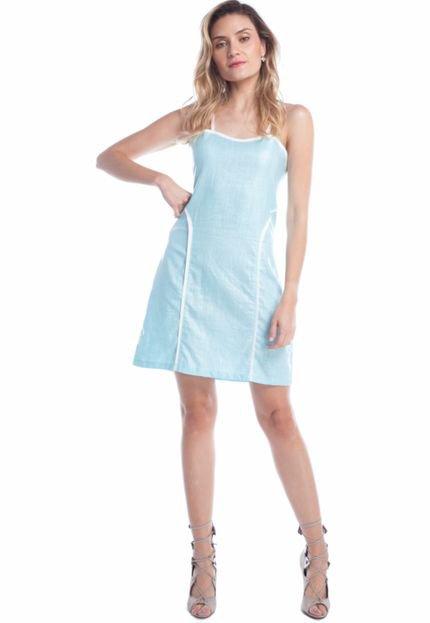 Ralm Tricot Vestido Curto Ralm Encerado Azul Claro oxZkW