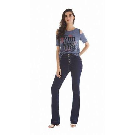 Zinco T-Shirt Zinco  Decote Redondo Abertura Manga  Azul u5KEg