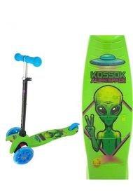 Monopatín Kossok Fun Alien 0 24101 verde
