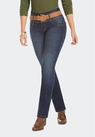Jeans Clásico Push Up Halcón Azul Marino Mujeron
