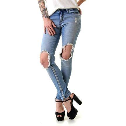 Opera Rock Calça Jeans Opera Rock Faux Leg Blue zT46e