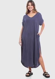 Vestido Wados MC Solid Azul - Calce Regular