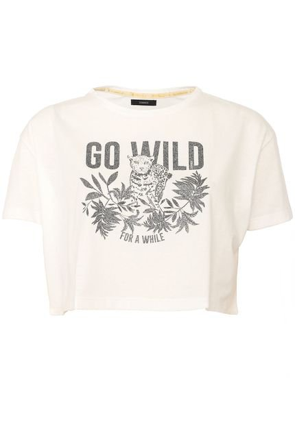 Sommer Blusa Cropped Sommer Go Wild Branca aI7QS