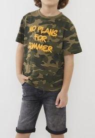 Polera No Plans For Summer Kids Militar Niño   Corona