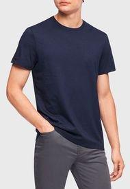 Polera Calvin Klein MC Azul - Calce Regular