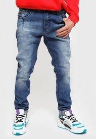 Jeans Ellus SKINNY HEAVY WASH TIRO MEDIO PINZAS Azul - Calce Slim Fit